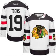 Wholesale Cheap Blackhawks #19 Jonathan Toews White 2016 Stadium Series Stitched Youth NHL Jersey
