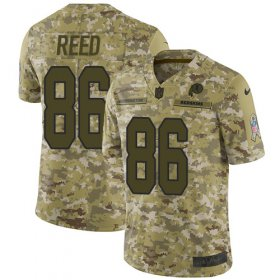 Wholesale Cheap Nike Redskins #86 Jordan Reed Camo Youth Stitched NFL Limited 2018 Salute to Service Jersey