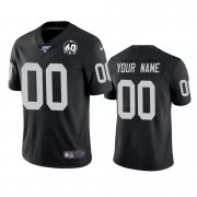 Wholesale Cheap Nike Raiders Custom Black 60th Anniversary Vapor Limited Stitched NFL 100th Season Jersey
