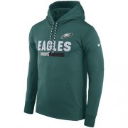 Wholesale Cheap Men's Philadelphia Eagles Nike Green Sideline ThermaFit Performance PO Hoodie