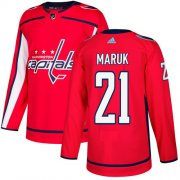Wholesale Cheap Adidas Capitals #21 Dennis Maruk Red Home Authentic Stitched NHL Jersey