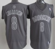 Wholesale Cheap Brooklyn Nets #8 Deron Williams Revolution 30 Swingman Gray Big Color Jersey