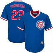 Wholesale Cheap Cubs #23 Ryne Sandberg Blue Cooperstown Stitched Youth MLB Jersey
