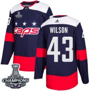 Wholesale Cheap Adidas Capitals #43 Tom Wilson Navy Authentic 2018 Stadium Series Stanley Cup Final Champions Stitched NHL Jersey