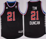 Wholesale Cheap 2015 NBA Western All-Stars #21 Tim Duncan Revolution 30 Swingman Black Jersey