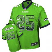 Wholesale Cheap Nike Seahawks #25 Richard Sherman Green Men's Stitched NFL Elite Drift Fashion Jersey