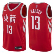 Wholesale Cheap Nike Houston Rockets #13 James Harden Red NBA Swingman City Edition Jersey