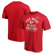 Wholesale Cheap Kansas City Chiefs NFL 2019 AFC West Division Champions Big & Tall T-Shirt Red
