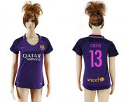 Wholesale Cheap Women's Barcelona #13 C.Bravo Away Soccer Club Jersey