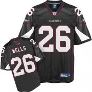 Wholesale Cheap Cardinals #26 Chris Wells Black Stitched NFL Jersey