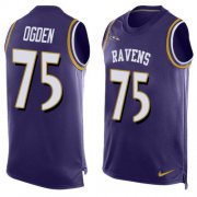 Wholesale Cheap Nike Ravens #75 Jonathan Ogden Purple Team Color Men's Stitched NFL Limited Tank Top Jersey