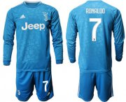 Wholesale Cheap Juventus #7 Ronaldo Third Long Sleeves Soccer Club Jersey