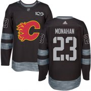 Wholesale Cheap Adidas Flames #23 Sean Monahan Black 1917-2017 100th Anniversary Stitched NHL Jersey