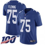 Wholesale Cheap Nike Giants #75 Cameron Fleming Royal Blue Team Color Youth Stitched NFL 100th Season Vapor Untouchable Limited Jersey