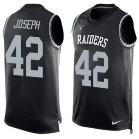 Wholesale Cheap Nike Raiders #42 Karl Joseph Black Team Color Men\'s Stitched NFL Limited Tank Top Jersey