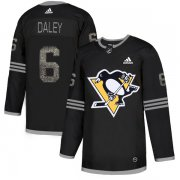 Wholesale Cheap Adidas Penguins #6 Trevor Daley Black Authentic Classic Stitched NHL Jersey