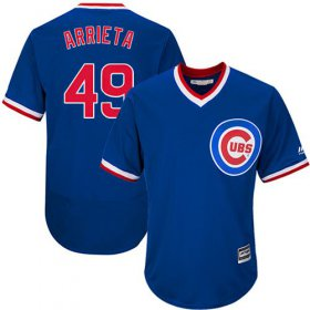 Wholesale Cheap Cubs #49 Jake Arrieta Blue Flexbase Authentic Collection Cooperstown Stitched MLB Jersey
