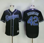 Wholesale Cheap Dodgers #42 Jackie Robinson Black Fashion Stitched MLB Jersey