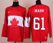 Wholesale Cheap Olympic 2014 CA. #61 Rick Nash Red Stitched NHL Jersey