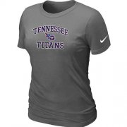 Wholesale Cheap Women's Nike Tennessee Titans Heart & Soul NFL T-Shirt Dark Grey