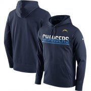 Wholesale Cheap Men's Los Angeles Chargers Nike Navy Sideline Circuit Pullover Performance Hoodie