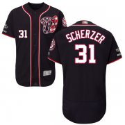 Wholesale Cheap Nationals #31 Max Scherzer Navy Blue Flexbase Authentic Collection 2019 World Series Champions Stitched MLB Jersey