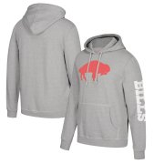 Wholesale Cheap Buffalo Bills Mitchell & Ness Classic Team Pullover Hoodie Heathered Gray