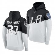 Wholesale Cheap Adidas Los Angeles Kings #27 Alec Martinez Men's 2020 Stadium Series White Black NHL Hoodie