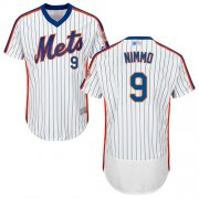 Wholesale Cheap Mets #9 Brandon Nimmo White(Blue Strip) Flexbase Authentic Collection Alternate Stitched MLB Jersey