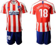 Wholesale Cheap Atletico Madrid #18 Diego Costa Home Soccer Club Jersey