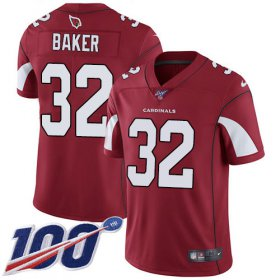 Wholesale Cheap Nike Cardinals #32 Budda Baker Red Team Color Men\'s Stitched NFL 100th Season Vapor Limited Jersey