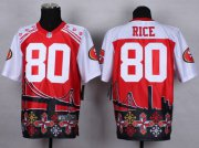Wholesale Cheap Nike 49ers #80 Jerry Rice Red Men's Stitched NFL Elite Noble Fashion Jersey