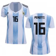 Wholesale Cheap Women's Argentina #16 Perotti Home Soccer Country Jersey