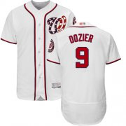 Wholesale Cheap Nationals #9 Brian Dozier White Flexbase Authentic Collection Stitched MLB Jersey