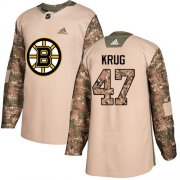 Wholesale Cheap Adidas Bruins #47 Torey Krug Camo Authentic 2017 Veterans Day Youth Stitched NHL Jersey