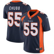 Wholesale Cheap Nike Broncos #55 Bradley Chubb Navy Blue Alternate Men's Stitched NFL Vapor Untouchable Limited Jersey