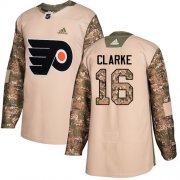 Wholesale Cheap Adidas Flyers #16 Bobby Clarke Camo Authentic 2017 Veterans Day Stitched NHL Jersey