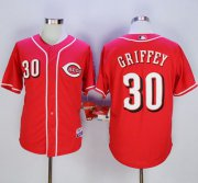 Wholesale Cheap Reds #30 Ken Griffey Red Cool Base Stitched MLB Jersey