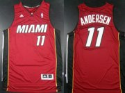 Wholesale Cheap Miami Heat #11 Chris Andersen Revolution 30 Swingman Red Jersey