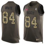 Wholesale Cheap Nike Buccaneers #84 Cameron Brate Green Men's Stitched NFL Limited Salute To Service Tank Top Jersey