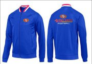 Wholesale Cheap NFL San Francisco 49ers Victory Jacket Blue_1