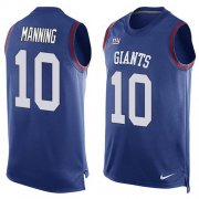 Wholesale Cheap Nike Giants #10 Eli Manning Royal Blue Team Color Men's Stitched NFL Limited Tank Top Jersey