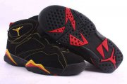 Wholesale Cheap Air Jordan 7 Retro Shoes Black/Yellow