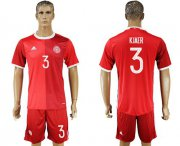 Wholesale Cheap Danmark #3 Kjaer Red Home Soccer Country Jersey