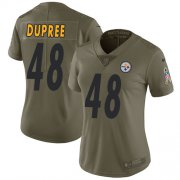 Wholesale Cheap Nike Steelers #48 Bud Dupree Olive Women's Stitched NFL Limited 2017 Salute to Service Jersey