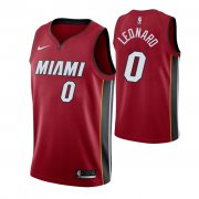Wholesale Cheap Nike Heat #0 Meyers Leonard Men's Statement Edition Red NBA Jersey