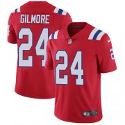 Wholesale Cheap Nike Patriots #24 Stephon Gilmore Red Alternate Men's Stitched NFL Vapor Untouchable Limited Jersey