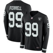 Wholesale Cheap Nike Raiders #99 Clelin Ferrell Black Team Color Men's Stitched NFL Limited Therma Long Sleeve Jersey