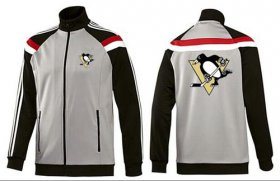 Wholesale Cheap NHL Pittsburgh Penguins Zip Jackets Grey