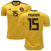 Wholesale Cheap Belgium #15 Meunier Away Soccer Country Jersey